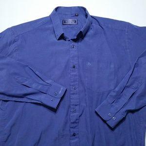 Vintage Versace V2  Button Shirt Purple Blue